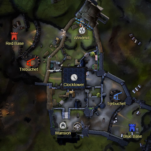 A map for instanced PvP in Guild Wars 2.